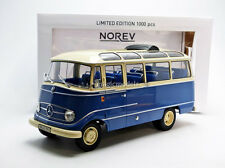 Norev 1965 Mercedes Benz O319 Blue and Beige LE of 1000 1/18 Scale New! In Stock