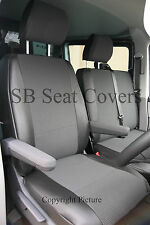 VW TRANSPORTER T5 VAN 2013 SEAT COVERS 154 + LEATHERETTE TRIM MADE TO MEASURE