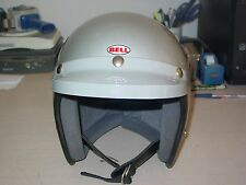 1970, BELL SUPER MAGNUM, SIZE 7 1/4 SILVER HELMET AND 520 VISOR GREAT CONDITION