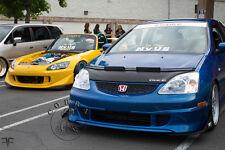 Honda Civic 02 03 2002 2003 EP3 Custom Bra Car Bonnet Mask/Hood Bra + LOGO