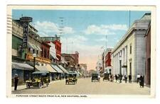 MA - NEW BEDFORD MASSACHUSETTS 1918 Postcard PURCHASE STREET WOOLWORTH CUSHING