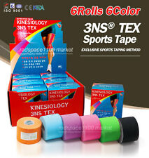 6 rolls 3NS Kinesiology Tape 6color Muscle Care Sports Tape 5m (Made in Korea)