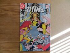1985 VINTAGE DC THE NEW TEEN TITANS # 8 SIGNED JOSE GARCIA-LOPEZ ART, WITH POA