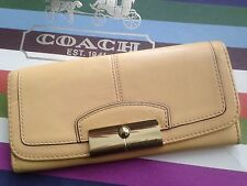 Coach Kristin Slim Envelope Leather Wallet #47389 ~ Yellow ~ Pre-Owned