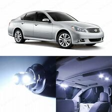 13 x Super White LED Interior Light and Plate Package For 2006-2010 Infiniti M35