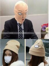 Anime One Punch Man Saitama Head Hat Cap Full Mask Cosplay Costume Winter