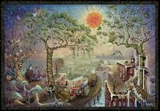 TOM DuBOIS HARVEST MOON GNOME MARIJUANA POSTER ART PRINT 36X24 NEW FREE SHIP
