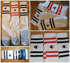 6 X Vtg CHAMPION TUBE SOCKS Basketball Skater Crew 80's 90's Sport OG DS RETRO