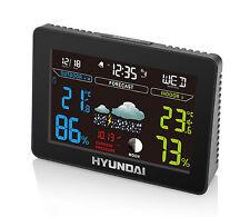 HYUNDAI Wettervorhersage Hygrometer Thermometer Funk Wetterstation Uhr  Wecker