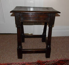 Fine Original 17th Century Oak Joint Stool c1650