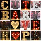 Metal LED 9'' Marquee Letter Heart Lights Vintage Circus Style Alphabet Light Up