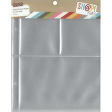Simple Stories ~ SNAP ~ 3x4 & 4x6 Page Protectors ~ Refill Pages SN@P
