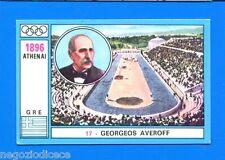OLYMPIA 1896-1972 - Panini -Figurina-Sticker n. 17 - G. AVEROFF - GRE -New