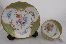 British Bone China Cup Saucer Hamilton Moore Victorian Hand Painted Flowers #4