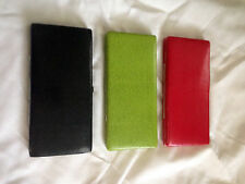 Lot of 12 NEW Flat Leather Flip Stand Womens Wallet w/ Credit Card & Coin Pocket