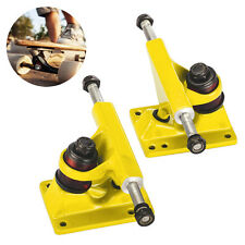"1 Pair 3.25"" Skateboard Trucks Anchor Shape for 22"" Mini Penny Board Yellow New"