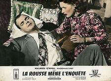 MAUREEN O'HARA  MALAGA 1954 VINTAGE FRENCH LOBBY CARD #1