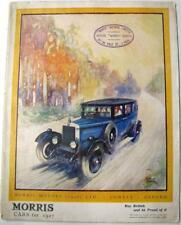 MORRIS for 1927 Range Original Car Sales Brochures 1926 #11/26/25,000