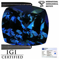 5.45 Ct IGI Certified AAA Natural D Block Tanzanite Green Violet Cushion Cut