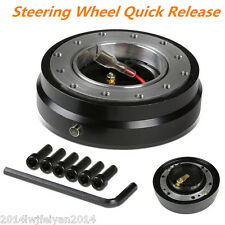 Black Universal Autos Steering Wheel Quick Release Hub Adapter Snap Off Boss Kit