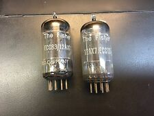 2 TUBES Telefunken Fisher 12AX7 ECC83 diamond base