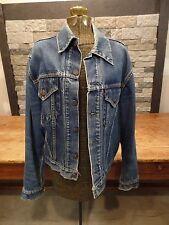 Vintage Levi's Big E Type 3 Denim Jacket Blanket Trucker Distressed 2 Pocket S