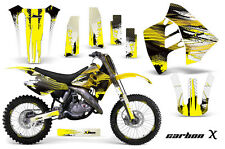 Suzuki RM 125/250 Graphic Kit AMR Racing # Plates Decal Sticker MX 89-92 CARBONX