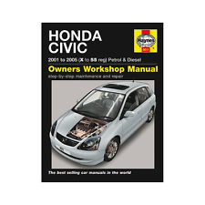Honda Civic 1.4 1.6 Gasolina 1.7 Diesel 01-05 (X a 55 Reg) Haynes Manual