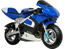 2 stroke gas motor engine blue small mini pocket bike kids motorcycle -no ca
