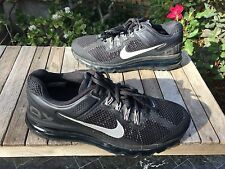 $180 Nike Air Max 2013 Black/gray Womens Running Shoes Size 8.5