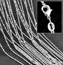 "10 X 1.2mm 925 Silver 20"" Bamboo Chain Ladies Women's Necklace Wholesale"