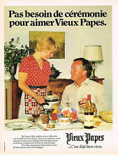 PUBLICITE ADVERTISING 094  1979  VIEUX PAPES   vin