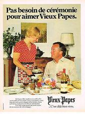PUBLICITE ADVERTISING 094  1979  VIEUX PAPES   vin