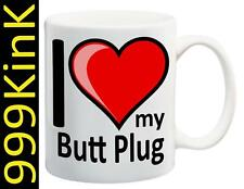 6242 I Love Heart MY BUTT PLUG cup mug SECRET santa Sex gift toy Gay stag party