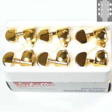 Schaller M6 Vintage tuners/machine Heads, 3x3 Gold, 10110523