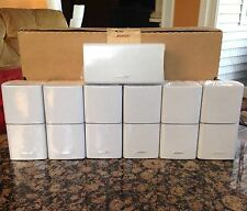 7 Bose Double Cube Speakers 1 Center Channel & 6 Surround~7.1 and/or 7.2 System
