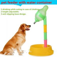 Pet Cat Dog puppy automatic Water Food Drinker Dispenser fountain Stand Dish
