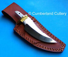 Polished Hunting Knife Making  Blade Blank with Leather Sheath
