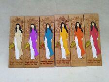 Vietnamese Traditional Ao Dai Bookmark Vietnam Handmade Wood Bookmarks Hanoi