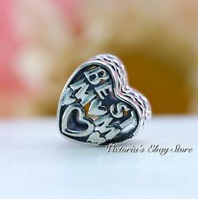 Authentic PANDORA Heart Charm Best Mom Jared Exclusive #791882