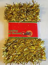 Christmas Tinsel Garland Festive  9 Ft. Gold