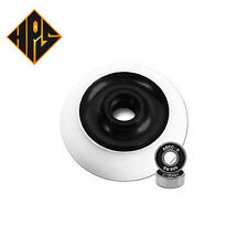 pair pro kick stunt scooter wheels black solid metal core 100mm abec 11 bearing