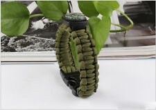 Army Green Bracelet Outdoor Survival Equipment  Compass Buckle Whistle SMS