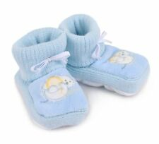 NOVELTY BABY BOY BOOTIES 12 STAND UP Edible Image Cake Toppers christening fun