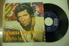 "TOM JONES""I WHO HAVE NOTHING-disco 45 giri DECCA Italy 1970"""