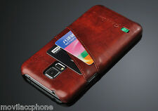 CASE RETRO LEATHER FOR SAMSUNG GALAXY S5 G900 I9600 SCREEN PROTECTOR LUXURY