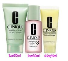 Clinique 3 Step Travel Size Set for Combination Oily to Oily Skin 3pcs in a set