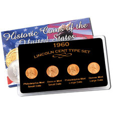 1960 Lincoln Cent Type Set - Large / Small Date