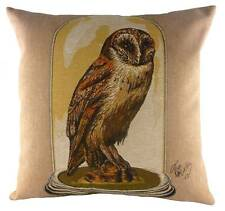 "18"" OWL Specimens Belgian Tapestry Cushion Evans Lichfield LC680 Bird"