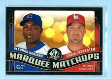 """ALFONSO SORIANO - CHRIS CARPENTER 2008 08 SP Authentic """"Marquee Matchups"""" #MM-20"""